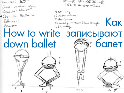 How to write down ballet
